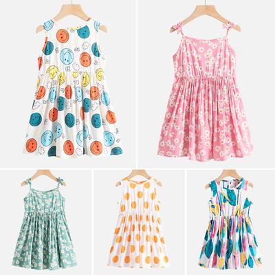 女童棉绸连衣裙小童洋气裙子女宝宝公主吊带裙儿童夏装小女孩童装