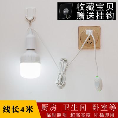 灯带开关灯口带线插头式床头夜灯