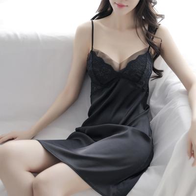 吊带女带夏季冰丝性感韩版真丝睡裙