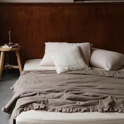日式素色全棉针织棉夏凉被空调被芯