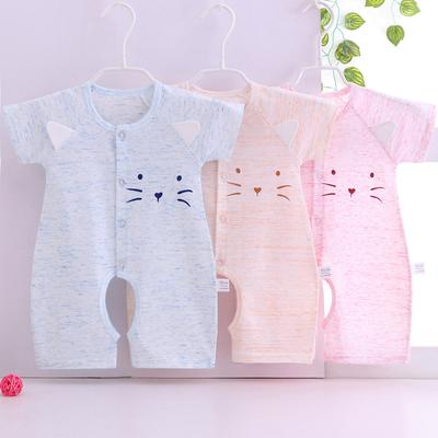 婴儿短袖夏春季纯棉新生幼儿哈衣