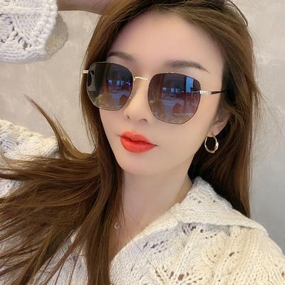 2021年新款偏光太阳镜小脸款女潮防紫外线墨镜夏时尚海边近视眼镜
