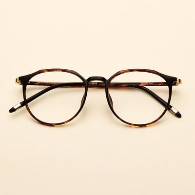 不规则素颜女配近视圆脸复古眼镜框