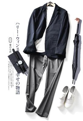 """口碑""""神""""衣!日本CoolMax~春夏轻薄高弹休闲单西西装西服外套男"""