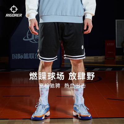 准者2021新款篮球裤男士运动跑步健身训练休闲宽松透气短裤五分裤