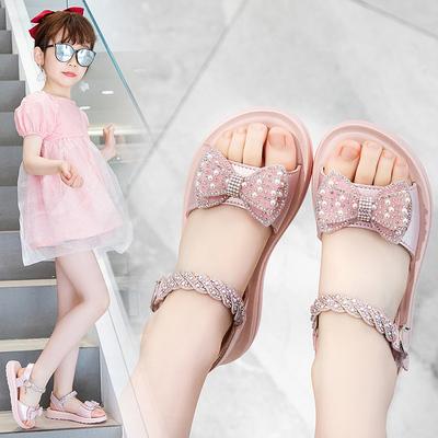 女童凉鞋2021年新款夏季软底鞋子