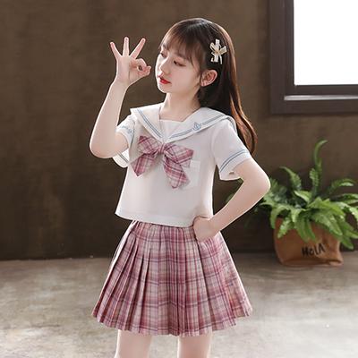 女童jk夏季小学生连衣裙潮制服裙子