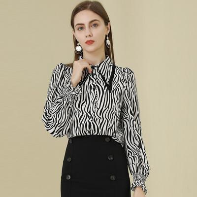 高级感衬衫女设计感小众2021秋季新款女条纹别致上衣小衫高档洋气