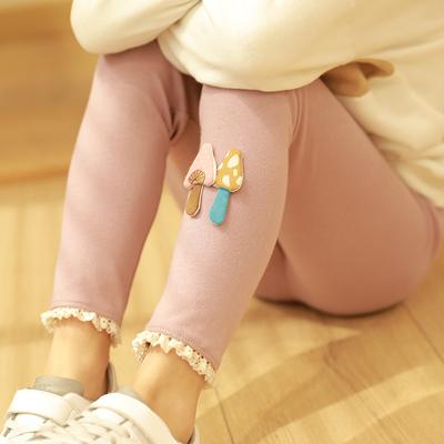 纯棉女童薄款春秋款外穿新款长裤子