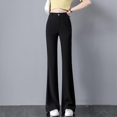 加长高个子黑色小香风西装大喇叭裤