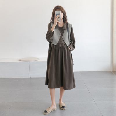 知性魅力~孕妇秋装韩国职业连衣裙
